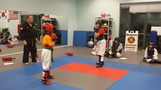 Integrity Martial Arts taekwondo sparring