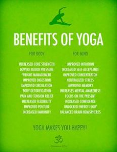 Yoga makes you happy
