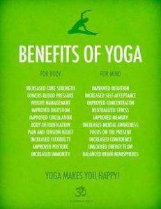 Yoga makes you happy