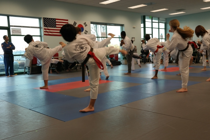 Integrity Martial Arts Laurel Taekwondo Belt Test